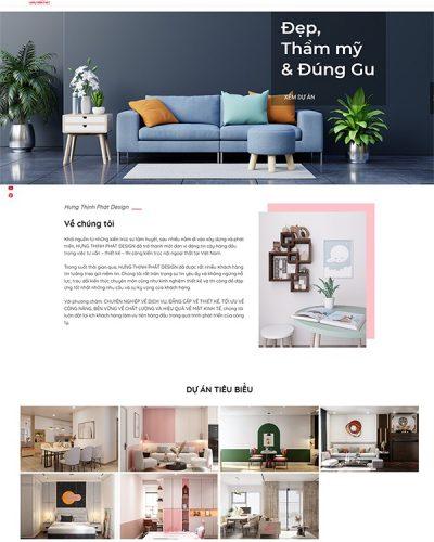 Mẫu website kiến trúc nội thất đẹp, đa năng