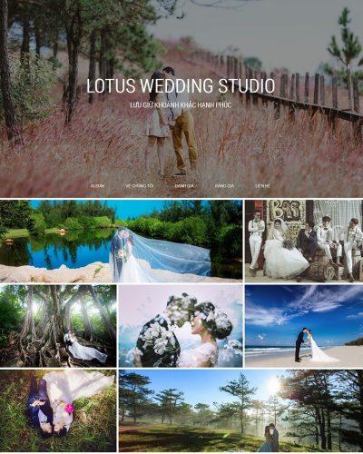Trang chủ website Studio Áo Cưới, chụp ảnh cưới