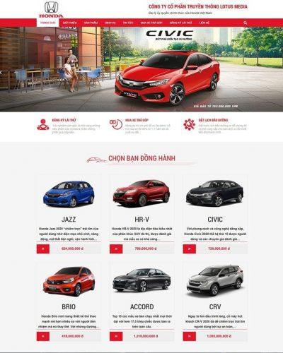 Mẫu website Honda oto Bắc Ninh