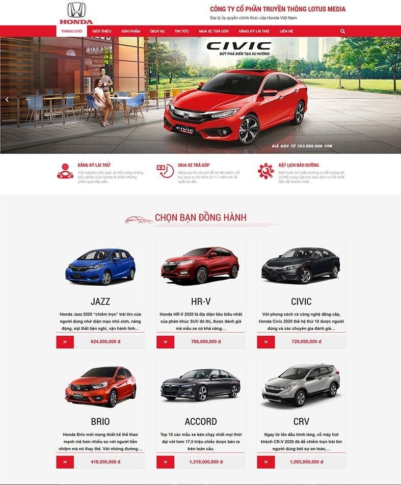 Website được thiết kế đẹp mắt, ấn tượng, tốc độ tải trang nhanh
