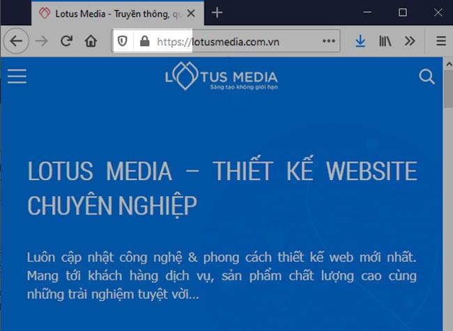 Website đã được tích hợp SSL