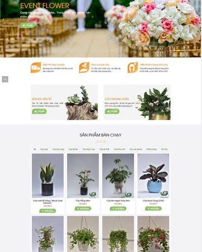 mẫu website nhà vườn, bán cây xanh