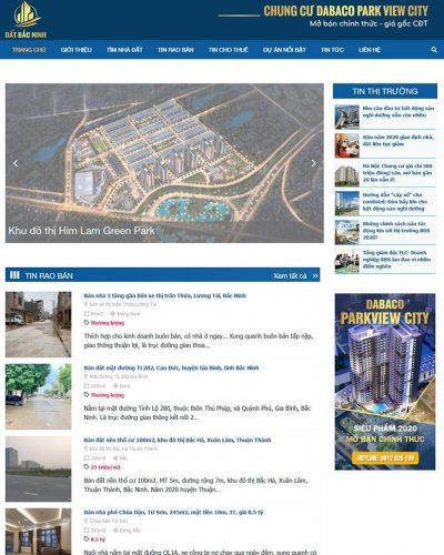 Mẫu website bất động sản tổng hợp