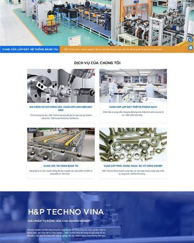 Mẫu website công ty cơ khí chính xác H&P Techno Vina