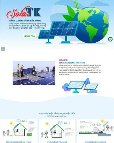 Mẫu website điện năng lượng mặt trời