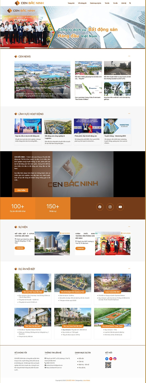 Mẫu website bất động sản Cen Bắc Ninh