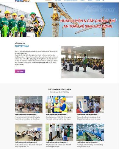 Mẫu website đào tạo an toàn lao động