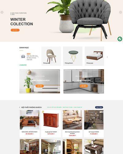 Mẫu website kiến trúc nội thất Sơn Tùng