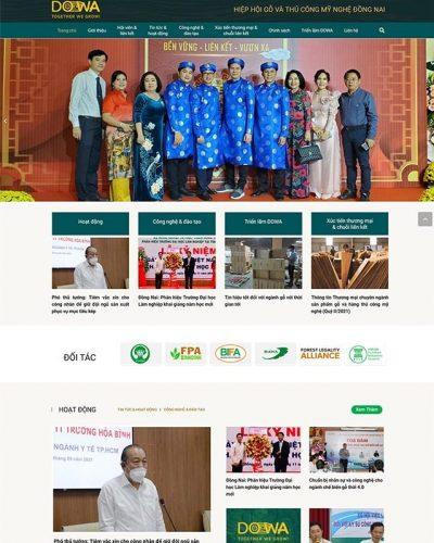 mẫu website hiệp hội gỗ và thủ công mỹ nghệ Đồng Nai
