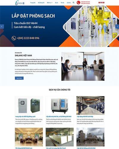 Mẫu website công ty dịch vụ xây dựng, cơ điện
